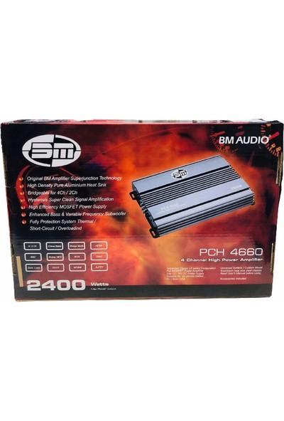 Bm PCH-4660 2400WATT 4X50RMS Oto Amfi