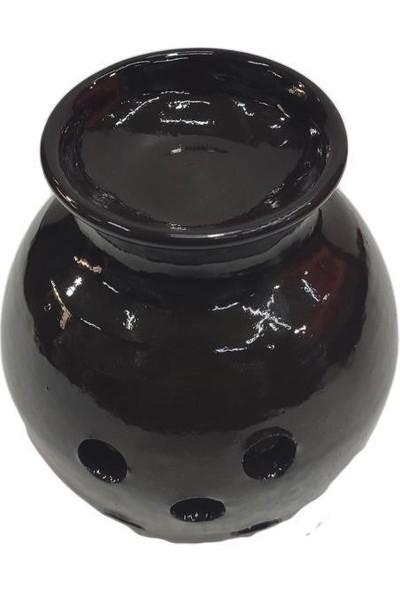 Şifa Ana El Yapımı Siyah Çömlek Buhurdan, Saf Nane Uçucu Yağı ve Tütsü Seti