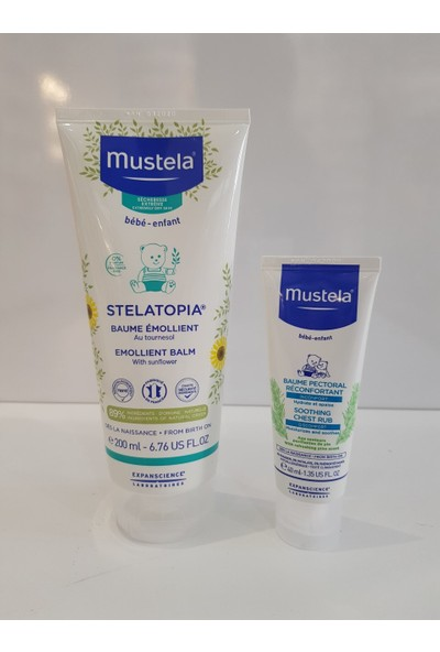 Mustela Stelatopia Emollient Balm 200 ml + Soothing Chest Rub 40 ml