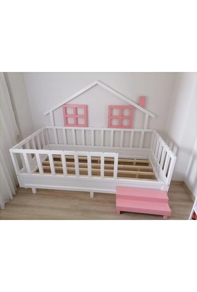 ATS Izmir Montessori Çocuk Yatak Çam 90X190 Karyola