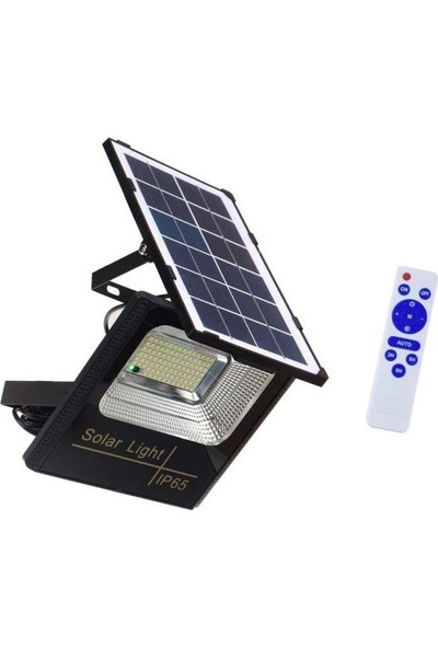 Cata Kumandalı Led Solar Güneş Panelli Projektör
