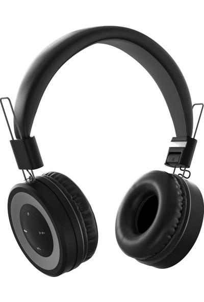 MF Product Acoustic 0136 Mikrofonlu Kulak Üstü Kablosuz Bluetooth Kulaklık Siyah
