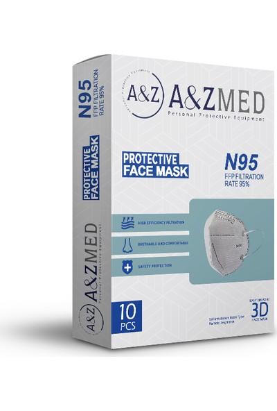 A&z Med N95 Ffp2 Maske Telli ve Tek Tek Paketli