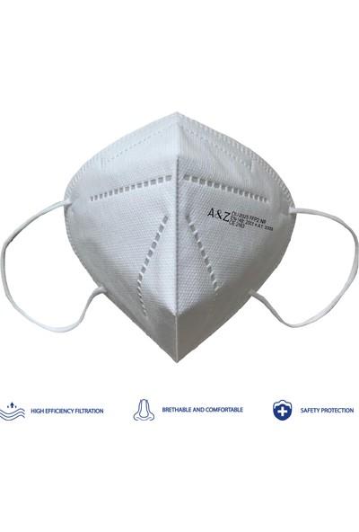 A&z Med N95 Ffp2 Maske Telli ve Tek Paketli 1 Adet