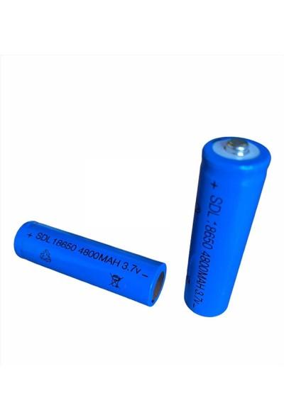Shaver Şarjlı Pil 18650 3.7V 4800 Mah Şarj Edilebilir Pil El Feneri Pili