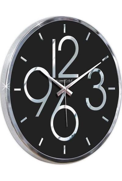 Time Gold Dekaoratif Modern Tasarım Sessiz Mekanizma / Akar Saniye Marina Duvar Saati