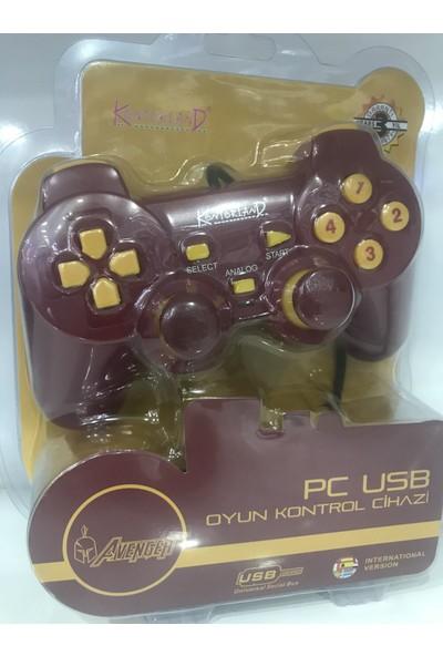 Kontorland Pc USB Gamepad Joystıck Oyun Kolu Galatasaray GS-905