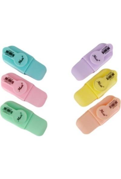 Masis Mini Fosforlu Kalem Pastel Renk 6 Lı Set Masis