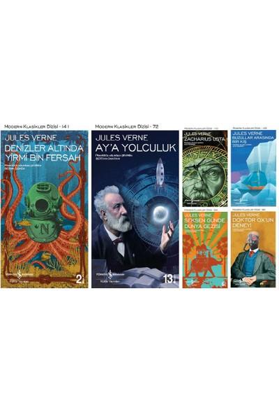 İş Bankası Modern Klasikler Dizisi Jules Verne 6 Kitap Set (Denizler Altında Yirmi Bin Fersah, Ay'a Yolculuk, Zacharius Usta, Buzullar Arasında Bir Kış, Seksen Günde Dünya Gezisi, Doktor Ox'un Deneyi)