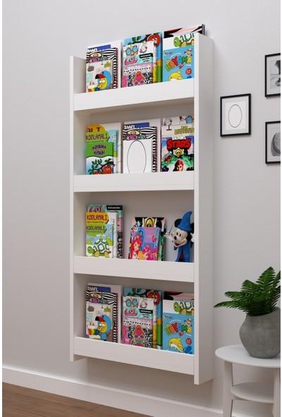 Montessori Kitaplık Eğitici Çocuk Kitaplığı 4 Raflı