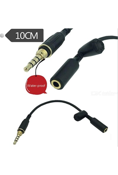 Mykablo Su Geçirmez Cep Telefonu Kulaklık Uzatma Kablosu 10 cm