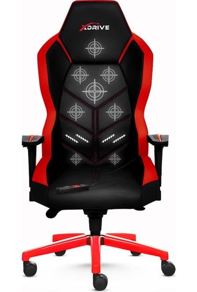 Xdrive Kasırga Masajlı Oyuncu Koltuğu Kırmızı/siyah