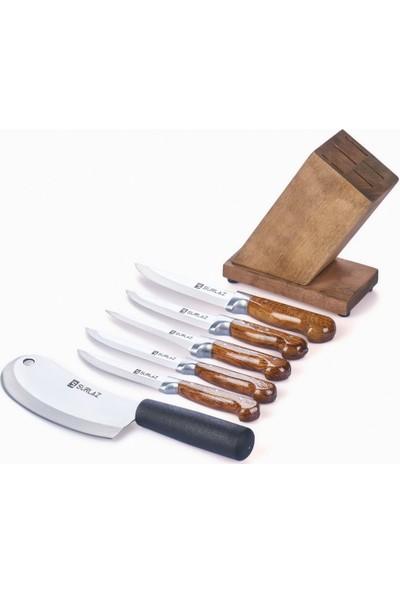 SürLaz Prime Standlı 7 Parça Mutfak Bıçak Seti