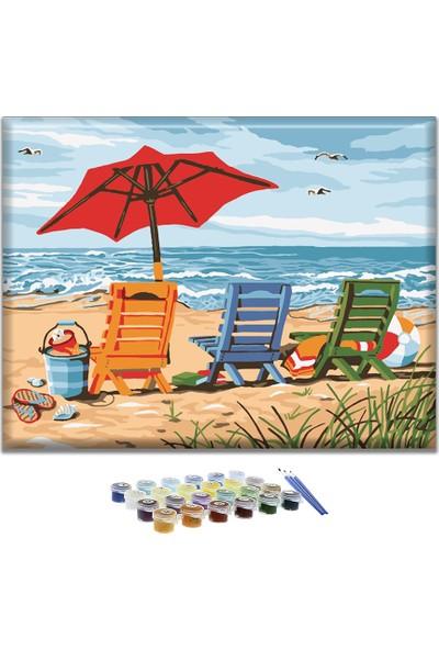 Doruk Baskı Sayılarla Boyama Seti - Plaj