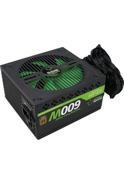 Gametech 600WATT 80 Plus Bronze 14 cm