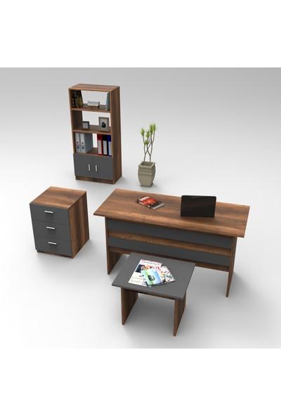 Robin Home Verona Abcd Ofis Büro Çalışma Masası Takımı Barok-Gri