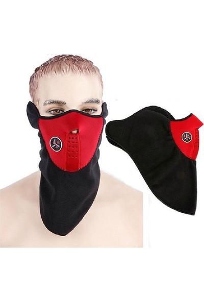 Peak Motosiklet Bisiklet Polar Kışlık Yüz Maskesi Rüzgar Geçirmez Balaklava
