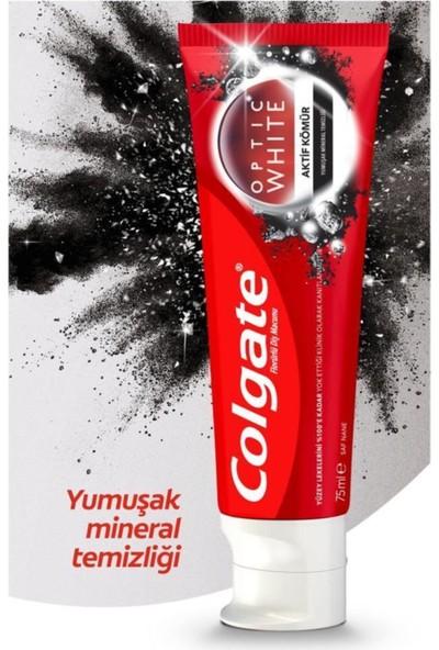 Colgate Optic White Charcoal Aktif Kömür Yumuşak Mineral Temizliği 50 ml