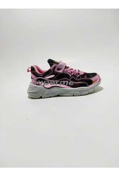 Lafonten Siyah-Pembe Kız Çocuk Spor Ayakkabı