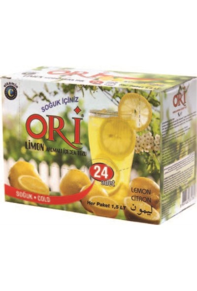 Ori Limon Aromalı Soğuk Içecek Tozu 9 gr x 24'lü