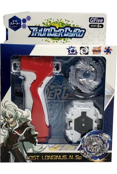 Elifeshop Gök Görültüsü Beyblade Başlangıç Düzey Tabancalı Oyuncu Kiti Oyuncak Seti Thundergyro