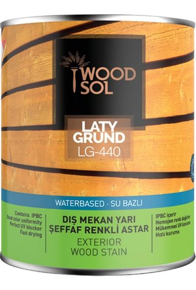 Woodsol Latygrund Dış Mekan Yarı Şeffaf Renkli Ahşap Astarı 0.75 Lt 1550 Verde