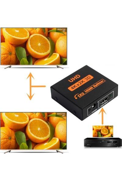 Triline 4K Ultra Hd 3D 2 Port HDMI Splitter Çoğaltıcı