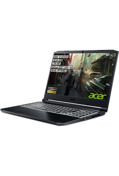 "Acer Nitro 5 Intel Core i7 10750H 32GB 1TB SSD RTX 2060 Freedos 15.6"" FHD Taşınabilir Bilgisayar NH.Q7QEY.003"
