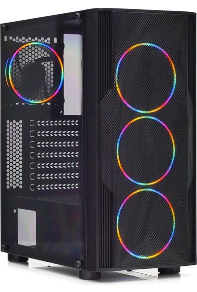 Dark AMD Ryzen 5 2600 16GB 480GB SSD RTX2060 Windows 10 Pro Masaüstü Bilgisayar (DK-PC-G2600-8-S1)