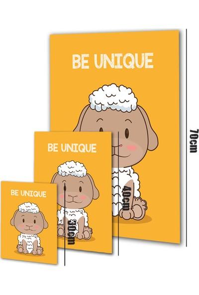 Polnight Be Unique Çocuk Duvar Dekorasyon Dijital Baskı Tablo Çerçevesiz Poster