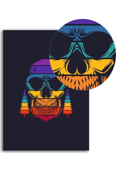 Polnight Skull Minimalist Duvar Dekorasyon Dijital Baskı Tablo Çerçevesiz Poster