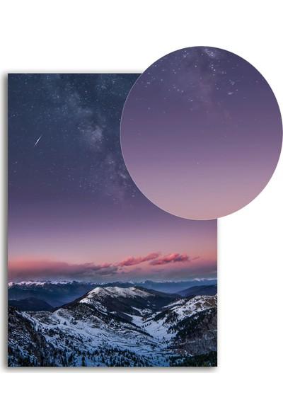 Polnight Interstellar Galaksi - Uzay Duvar Dekorasyon Dijital Baskı Tablo Çerçevesiz Poster