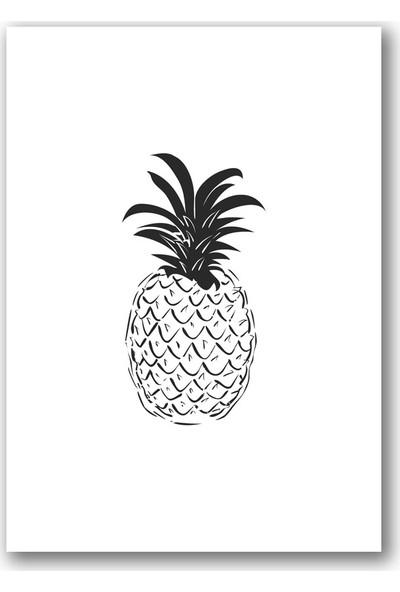 Polnight Pineapple Minimalist Duvar Dekorasyon Dijital Baskı Tablo Çerçevesiz Poster