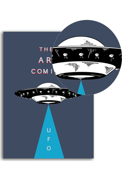 Polnight Ufo Galaksi - Uzay Duvar Dekorasyon Dijital Baskı Tablo Çerçevesiz Poster