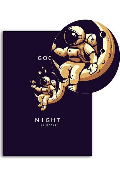 Polnight Good Night Çocuk Duvar Dekorasyon Dijital Baskı Tablo Mdf Siyah Çerçeve Poster