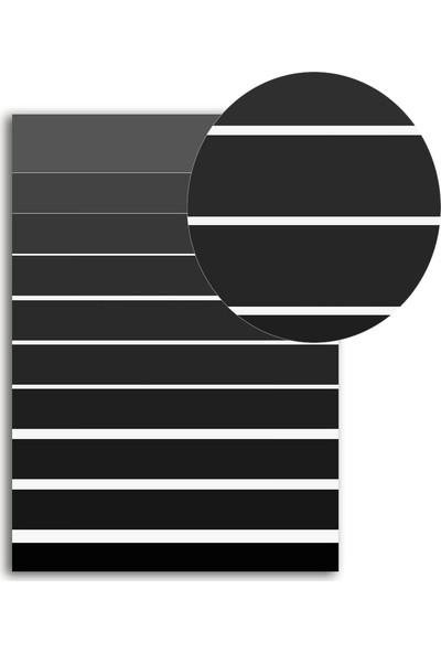 Polnight Symmetry Striae Simetri Duvar Dekorasyon Dijital Baskı Tablo Mdf Siyah Çerçeve Poster