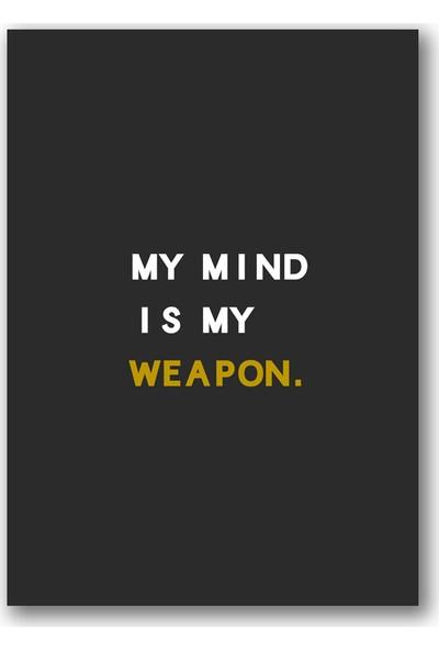 Polnight My Mind Motto Duvar Dekorasyon Dijital Baskı Tablo Çerçevesiz Poster