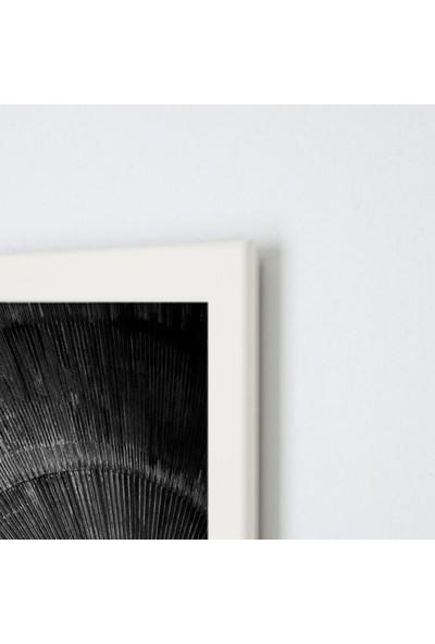 Polnight Blackhole Galaksi - Uzay Duvar Dekorasyon Dijital Baskı Tablo Mdf Beyaz Çerçeve Poster