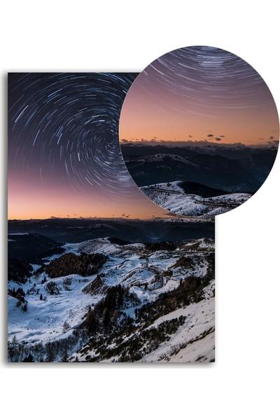 Polnight Hypnosis Galaxy Galaksi - Uzay Duvar Dekorasyon Dijital Baskı Tablo Çerçevesiz Poster
