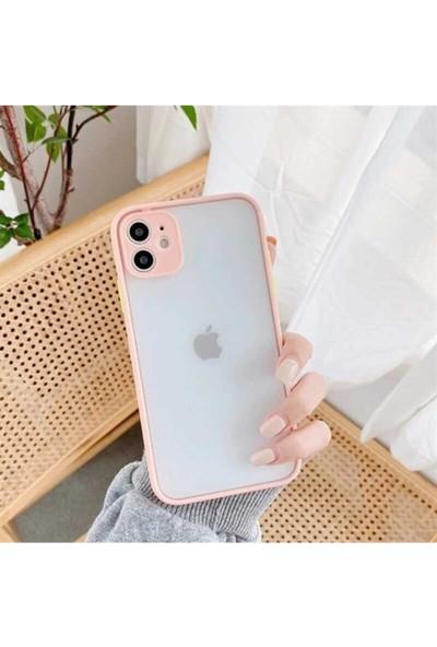 Coverest Apple iPhone 7 Plus - 8 Plus Silikon Kenarlı 3D Kamera Lens Korumalı Hux Kılıf Lila