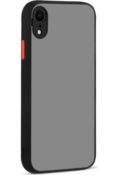 Coverest Apple iPhone Xr Silikon Kenarlı 3D Kamera Lens Korumalı Hux Kılıf Siyah