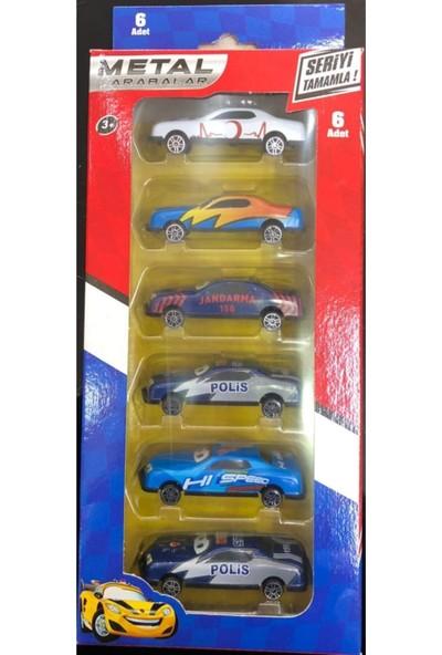 Toyshome 6'lı Çılgın Metal Arabalar
