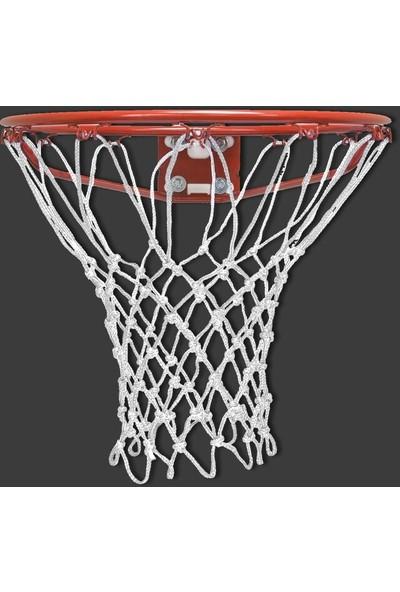 Özbek Basketbol Filesi 4mm Polys. Beyaz - 2 Adet (Basketbol Pota Ağı)