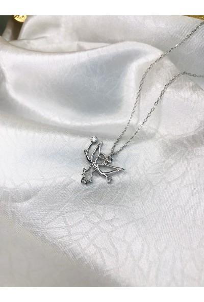 Selens Swarovski Melek Gümüş Kolye