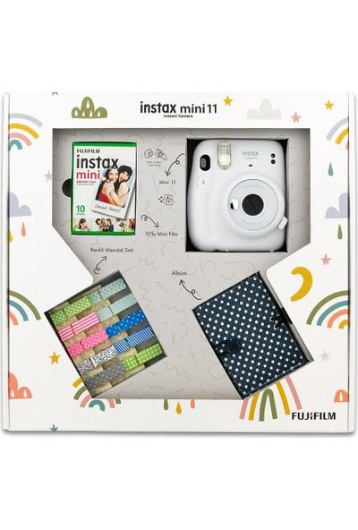 Fujifilm Instax Mini 11 Akordiyon Albüm ve Mandallı Beyaz Box