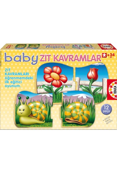 Educa Puzzle Baby Zıt Kavramlar Eğitici Yapboz Puzzle
