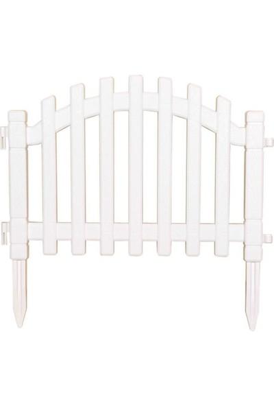 Grass Çit Grass Plastik Çit Beyaz Hemen Villanızın Veya Evinizin Bahçesini Çitlendirin Dekoratif Şık Bahçe Çiti