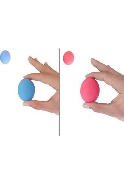 Raj 2li Set 2 Renk Silikon Stres Topu El Egzersiz Topu Fizik Tedavi Topu El Bilek Parmak Güçlendirme Top Mavi- Kırmızı