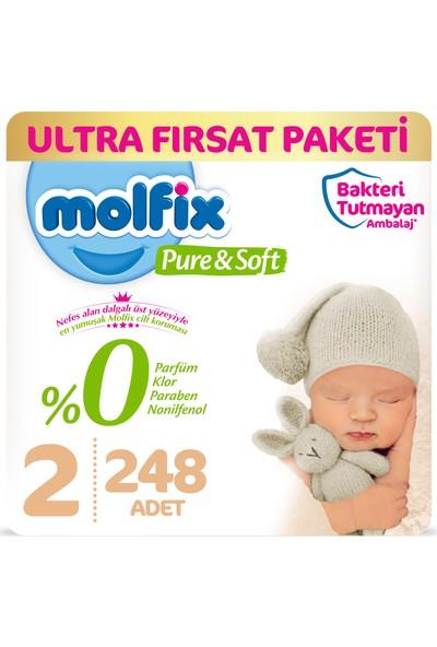 Molfix Pure&soft Bebek Bezi 2 Beden Mini Ultra Fırsat Paketi 248'LI
