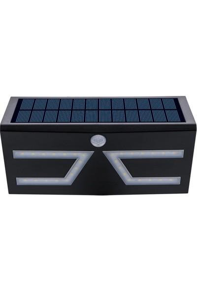 Mbw Solar Hareket Deksiyon Duvar Lambası 5W Smd IP65 Beyaz Siyah Kabuk Mavi Atmosfer Işığı (Yurt Dışından)